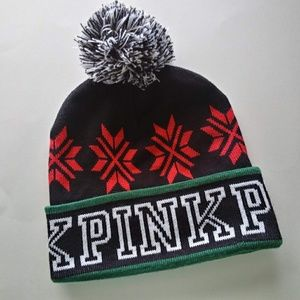 🎄PINK Victoria's Secret   WInter hat🎄